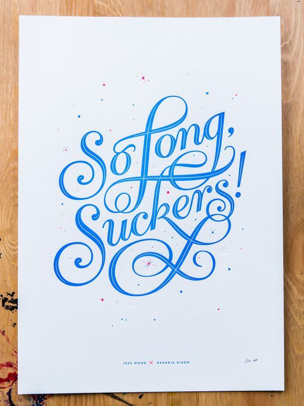 25 Great Typography, Lettering & Calligraphy Designs | From up North