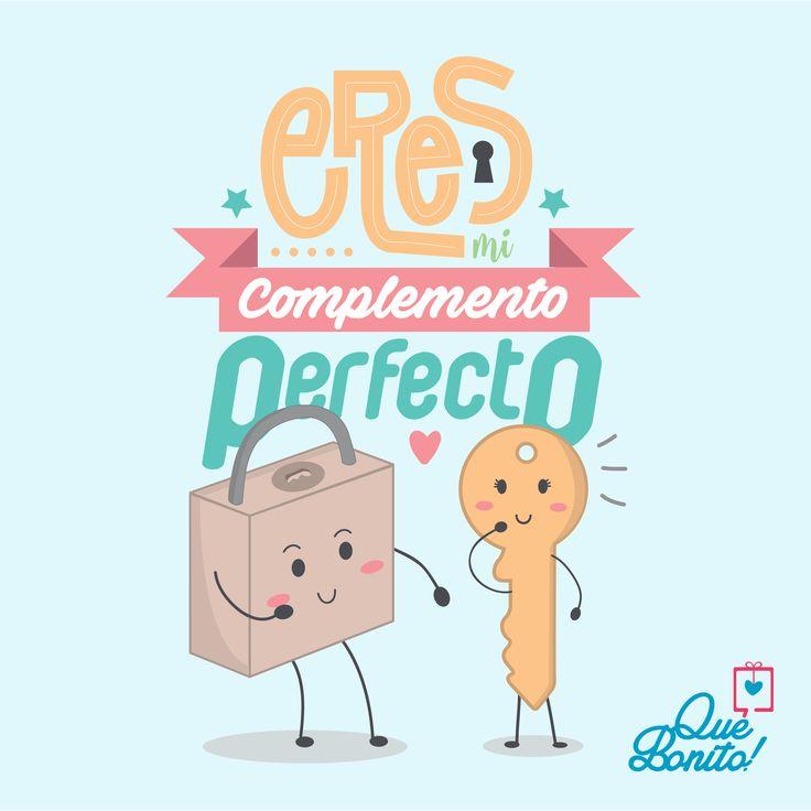 Llegaste en el momento perfecto y sin duda eres mi complemento! #quote #frases #amor #quebonitostore #quebonito #regalos