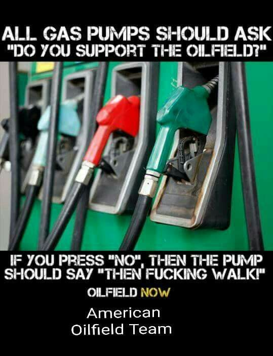 Puts another perspective on things. Everything I own is because of oil.