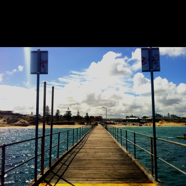 Adelaide--My favorite city in Australia.  Walked out these unbelievably long piers over the ocean.