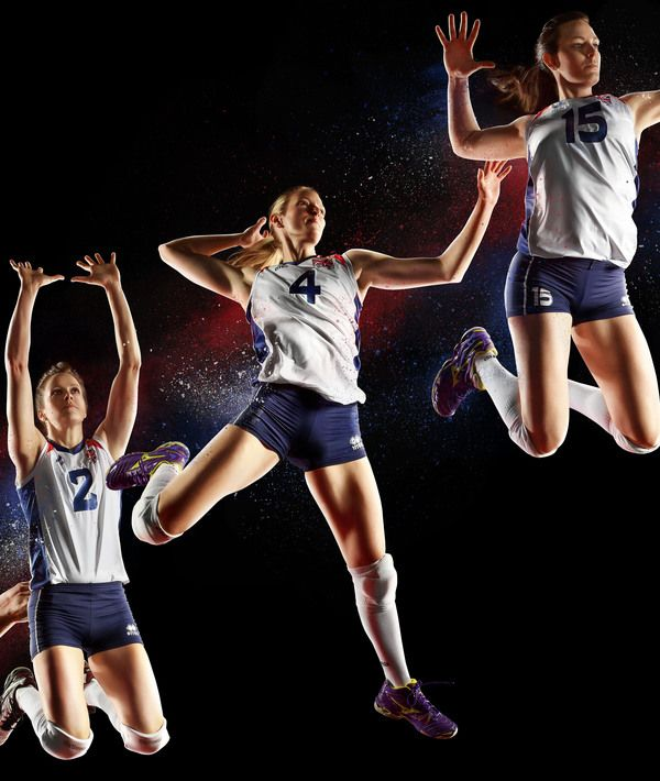 GB Olympic Volleyball Team by Simon Derviller