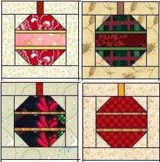 Christmas quilt blocks | The Christmas Ornament Quilt Block