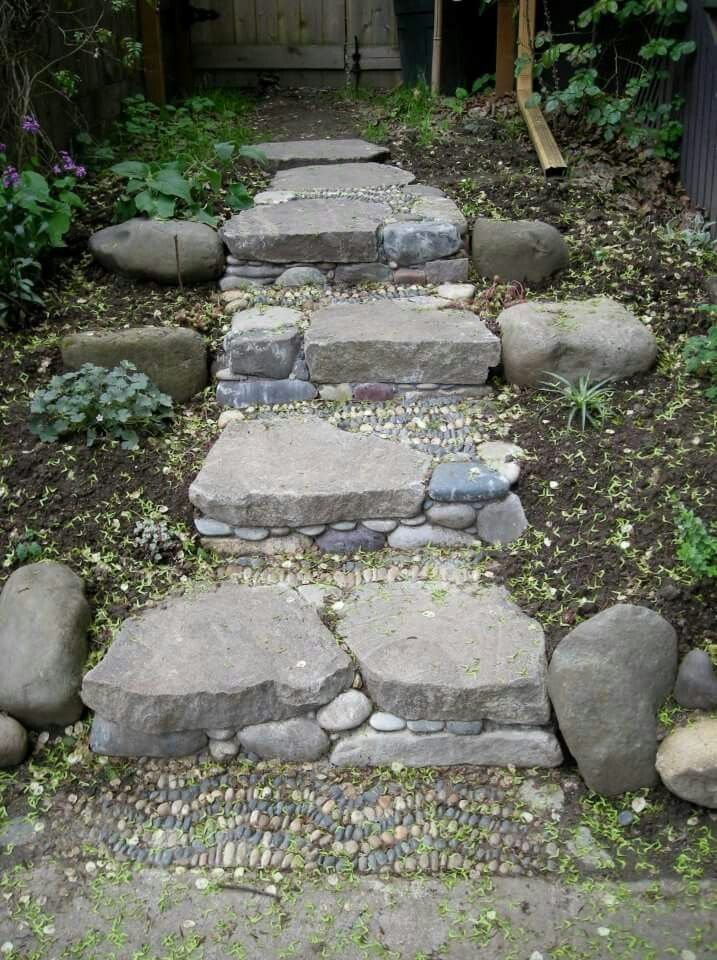 Stone Garden Steps 229 best garden steps and stairs images on pinterest landscaping stone steps by jeffery bale of or workwithnaturefo