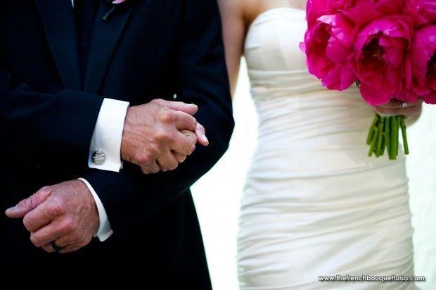 Fuchsia Pfingstrosen für Brautstrauß – Der französische Strauß  – Peony