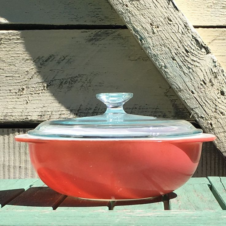 Great Condition! 1950's Vintage PYREX Pink Flamingo 2 Quart Casserole Dish # 204 w/ Starburst PYREX G-1-C Lid Mid Century Modern Mixing Bowl by ShowMeShabby on Etsy