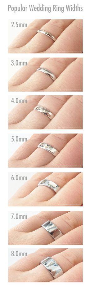 ¿Ya han elegido el ancho perfecto para sus anillos de #matrimonio? #WeddingBands