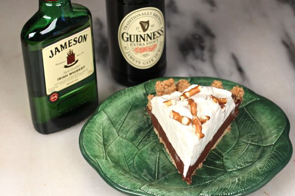 Chocolate Stout Pudding Pie with Jameson Whipped Cream and Pretzel ...
