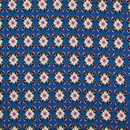 Deze Miami stof is een prachtig bedrukte bloemen jersey zomerstof. Geschikt voor het maken van shirts, rokken, jurken en tops | Stoffenhuis Hoofs