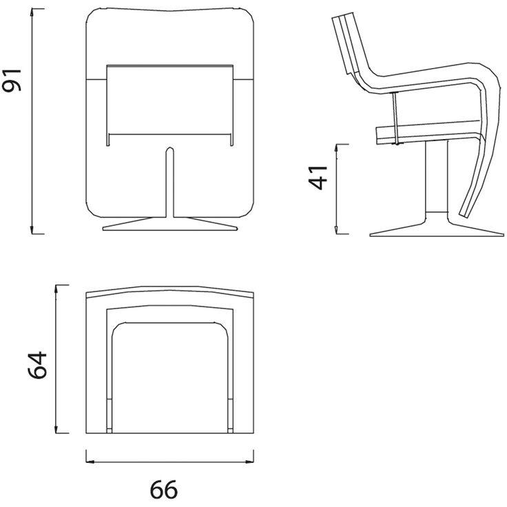 Cadeira giratória estofada com braços WAVE by OUTSIDER design Ferdinand Alexander Porsche