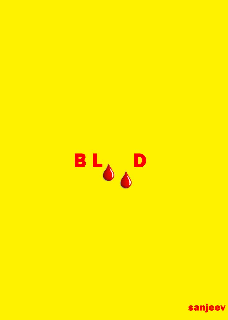 blood typography