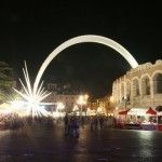 Verona's Roman Arena is decorated for Christmas