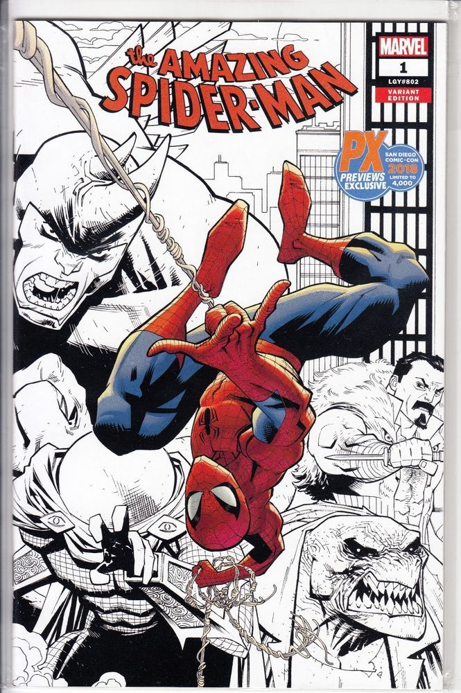 Amazing Spider-Man #1 2018 SDCC Previews PX Sketch Variant