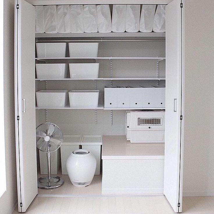 クローゼットDIY/IKEA/猫部屋/整理整頓/収納見直し/after…などのインテリア実例 - 2016-04-21 13:44:54 | RoomClip(ルームクリップ)