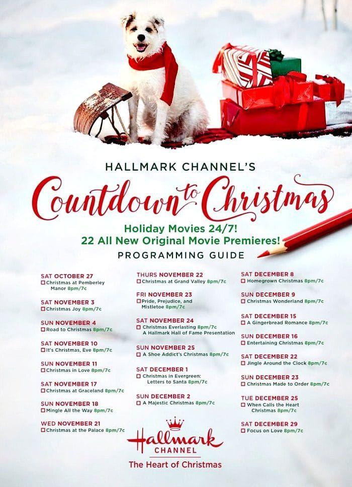 2019 Hallmark Holiday Movies Schedule Hallmark christmas