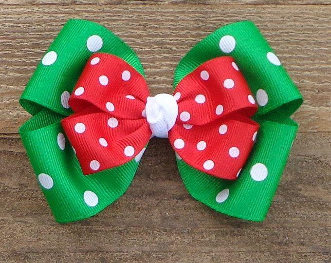 Arco de Boutique de Navidad ~ arco del pelo de vacaciones ~ arco del pelo de Navidad ~ arco de pelo rojo y verde ~ arco de pelo básica ~ Navidad arco del pelo del Boutique ~ arcos de Navidad ~