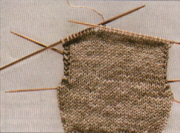 How to knit socks: knitting the heel