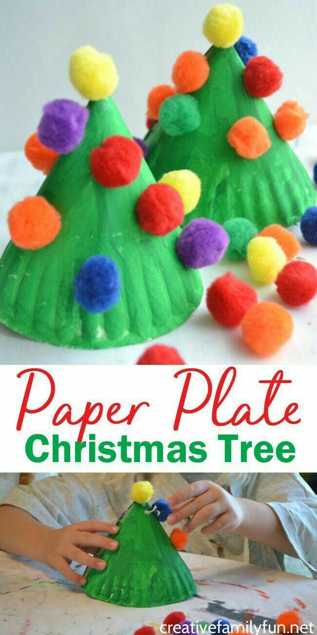 Paper Plate Christmas Tree Winter Activities For Kids Pinterest