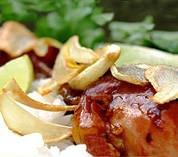 Thai Garlic Chicken (with Mushrooms & Crispy Fried Garlic)