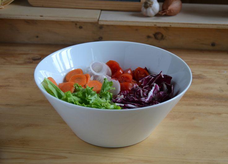 Coppa Conica: contenitore in porcellana per insalate di verdura,pasta, riso o altri cereali.  www.ancap.it
