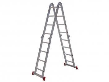 Escada Alumínio Articulada Botafogo - 16 Degraus 4x4