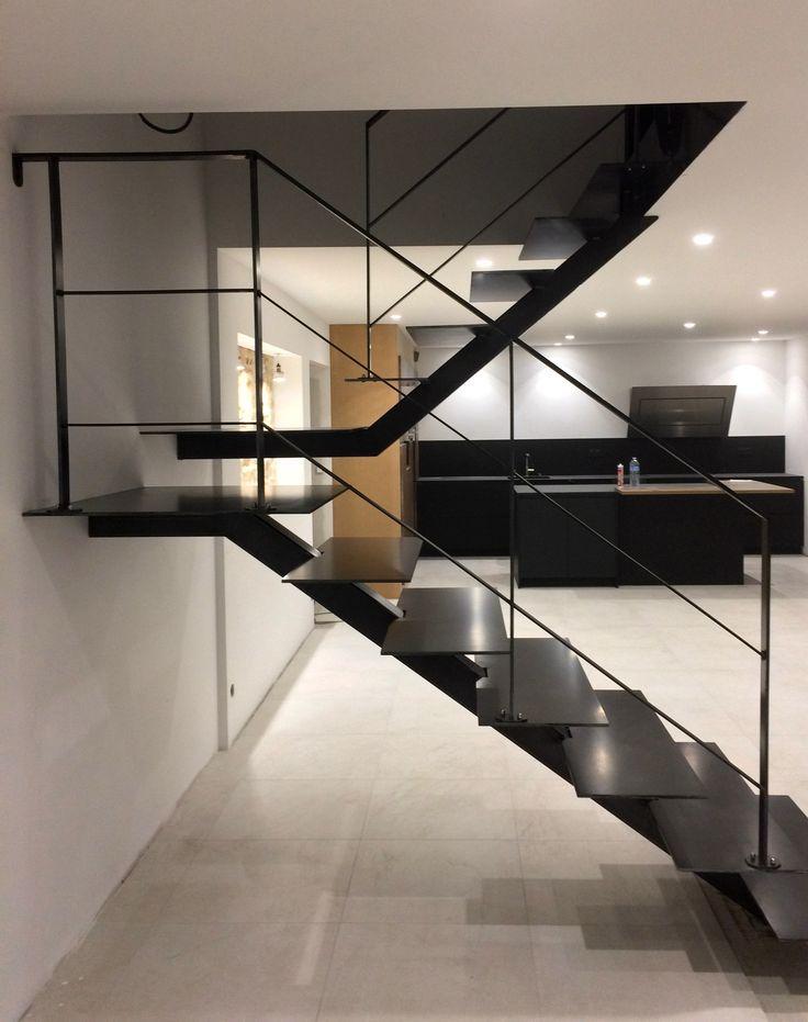 Escalier métallique design - Art Métal Concept Quimper