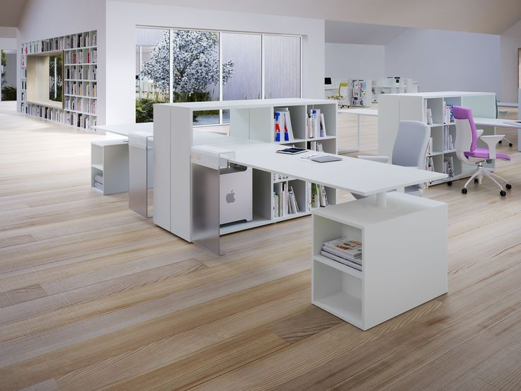 17 best ideas about home office layouts on pinterest home office office shelving and home desk - Office furniture arrangement ideas ...