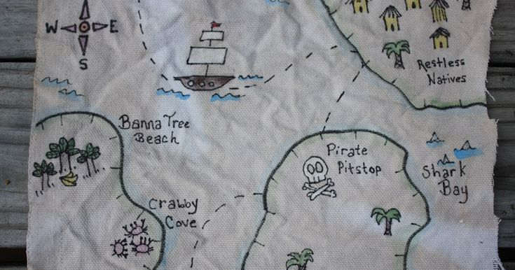 No true Swashbuckler would be caught with out their trusty treasure map. You can make your own authentic looking map in no time at all. Her...