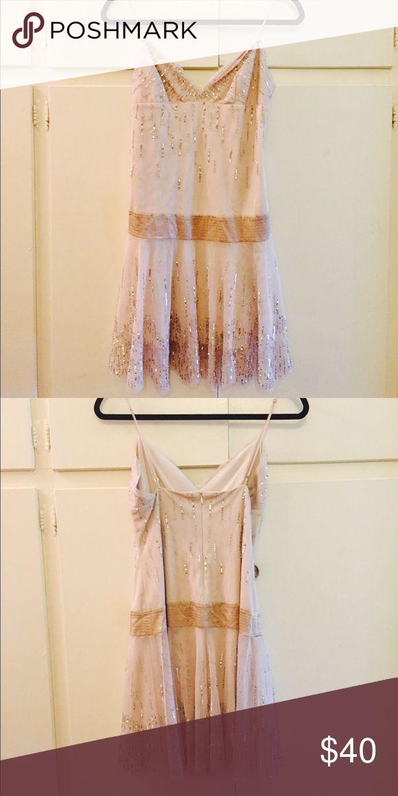 Dress Stunning Cream sequin dress. BCBG Dresses Mini