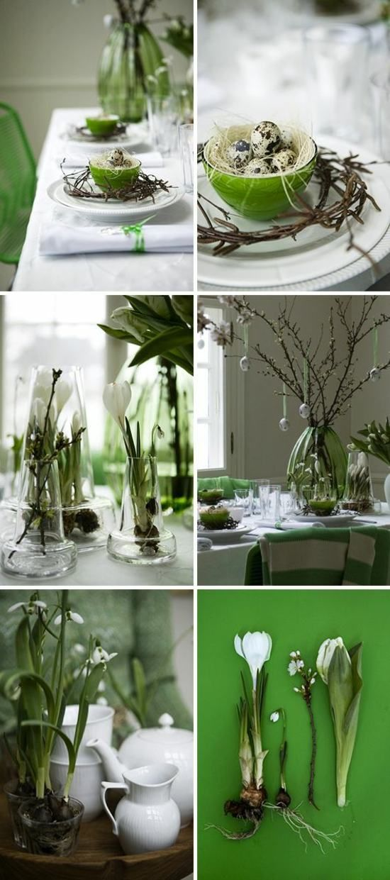 déco de table de printemps