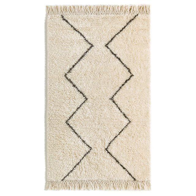 Tapis Nyborg AM.PM : prix, avis & notation, livraison. Esprit berbère pour ce tapis bicolore en pure laine naturelle. Finition frangée nouée.