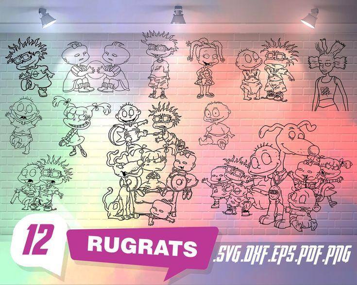 Rugrats svg, Rugrats svg, angelica svg, black Rugrats svg