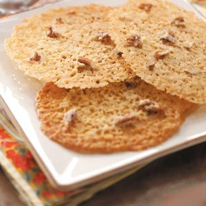 Buttery Lace Cookies Recipe - Learned to make these back in the 60's in Home Ec class, but that recipe did not use nuts. Tasty!