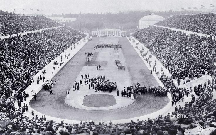 Opening ceremony of the 1896 Olympic Games in Panathinaiko Stadium, Athens, Greece (© Eye Ubiquitous/UIG/Getty Images)