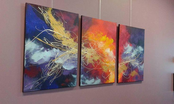 3 piece Abstract Art  #abstractart #artofsej #colorfulart