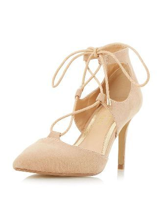 Dorothy Perkins Womens *Head Over Heels Calista Ghillie Shoes- Head Over Heels ghillie lace court shoes. It features a pointed toe closed back and slim mid heels. 100% Polyurethane. http://www.MightGet.com/january-2017-13/dorothy-perkins-womens-head-over-heels-calista-ghillie-shoes-.asp