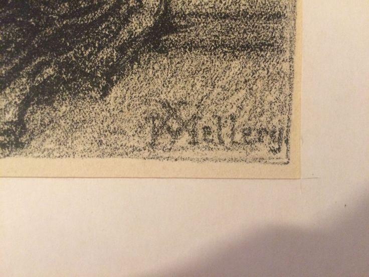Xavier MELLERY (1845-1921)-Laeken-BELGE-Bruxelles-Khnopff in Art, antiquités, Art du XIXème, et avant, Estampes, gravures, lithos | eBay