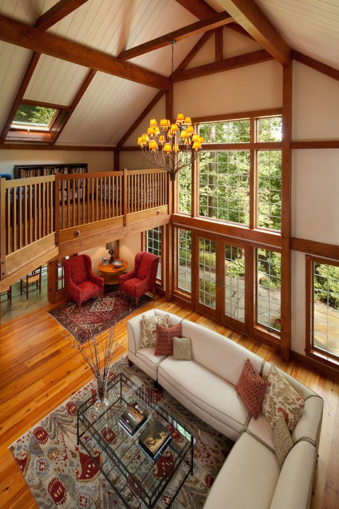 Gathering house barn home stunning post and beam frame for Open concept post and beam house plans