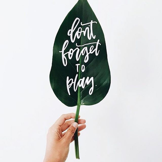 What to do at Chrsitmas? THIS of course.. and if I get to master stunning brush lettering like @afabulousfete then I will be super pumped too!! #leaf #quote #playmatters #brushlettering #font #lemonadelusts