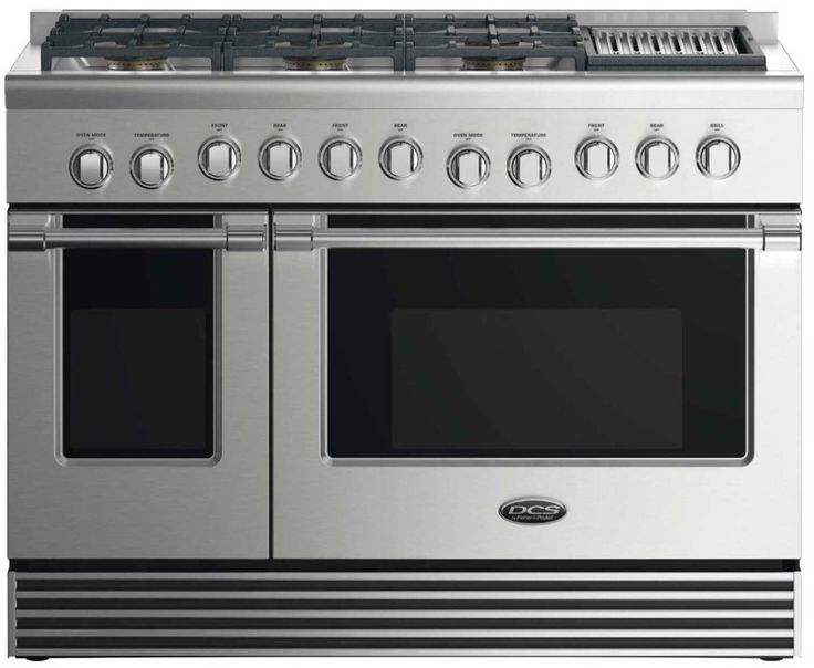 """Lowest price on DCS RGV2486GLL 48"""" Stainless Steel Liquid Propane Sealed Burner (With Grill) Range - Convection. Shop today!"""