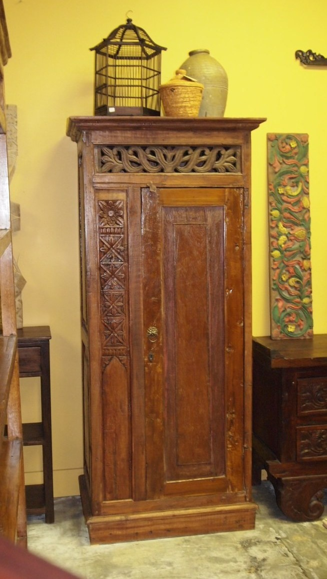 Rustic Carved Cabinet Hand Crafted From Reclaimed Hard Wood Vintage Carved  Panel From Indonesia At Gado · Bali FurnitureCustom ...