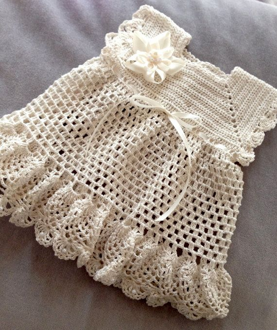 Crochet Baby Dress. I need to make this!