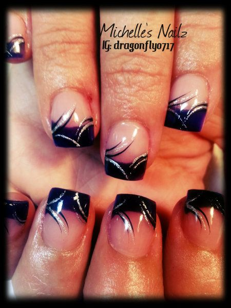Best 25+ Nail tip designs ideas on Pinterest | Silver french manicure,  Sparkle gel nails and Glitter french tips - Best 25+ Nail Tip Designs Ideas On Pinterest Silver French