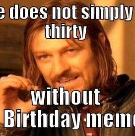 30th birthday meme image