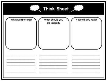 11 best behaviour management reflection sheets/incident