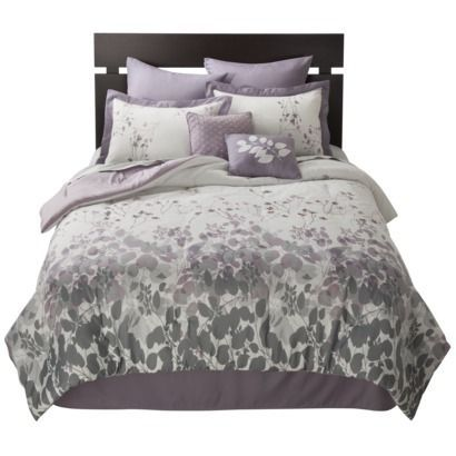 Image Result For White Bedding With Purple Accents