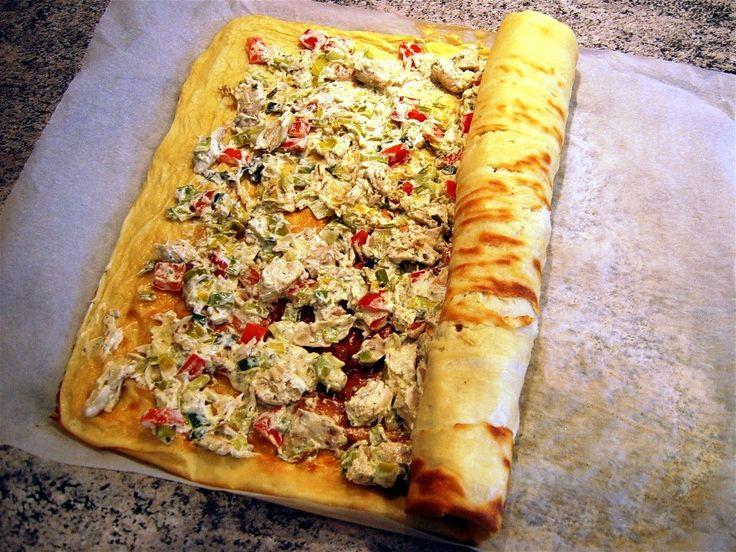 Pandekageroulade m.grøntsags/skinkefyld ... klik på billedet for at komme tilbage
