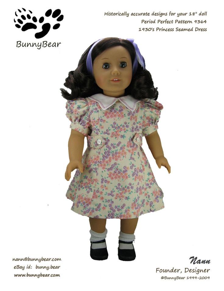 main_prod_img_9364: Dress Patterns, Doll Dresses, Dolls American, 1930S, Doll Patterns, Princesses, 1920S