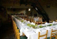 Groene druiven als tafelversiering