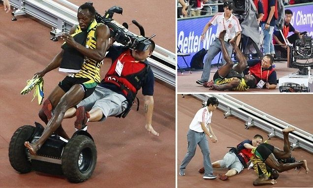 Usain Bolt Wins A Gold . . . Only To Be Taken Out By A Segway