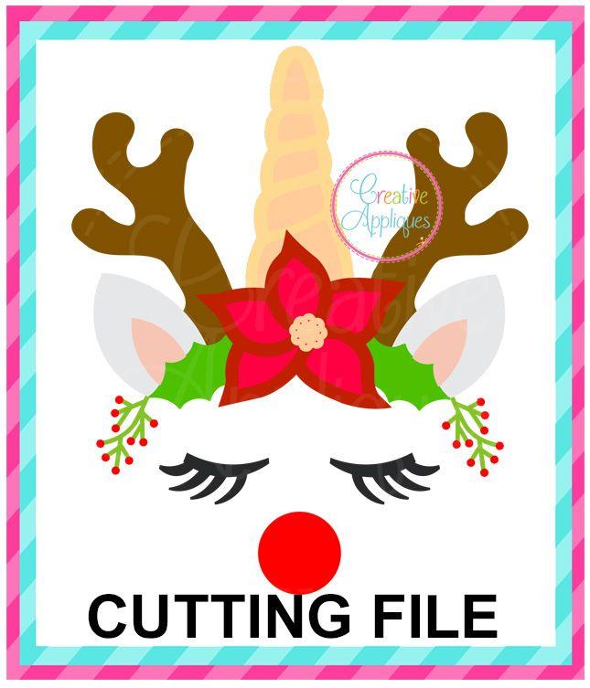 Unicorn Horn Reindeer Cutting File SVG DXF EPS | ANIMALS SVG